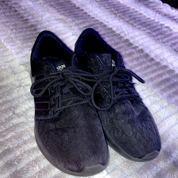 solid black adidas shoes